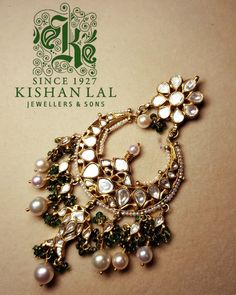 big chand bali for wedding by Kishan lal jewellers and sons.