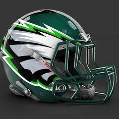 Philadelphia Eagles alt helmet design Cool Football Helmets, Football Helmet Design, Sports Helmet, Nfl Football Teams, Football Uniforms, Football Memes, College Football, Philadelphia Eagles Helmet, Nfl Philadelphia Eagles