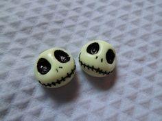 The Nightmare Before Christmas - Jack Skellington stud earrings - Glow in the dark