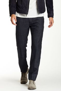 John Varvatos Navy Wool Stretch Performance Dress Pants Mens 32//34 x32 NWT $175