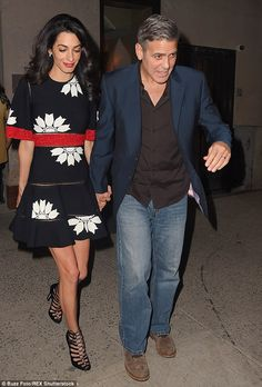 Double date night: The 53-year-old actor was then seen leaving Caravaggio Restaurant hand ...