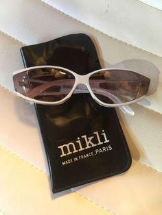 55926d97a8 Vintage ALAIN MIKLI PARIS 041102 White And Clear Mod SUNGLASSES  gozluk   glasses  desenligozluk