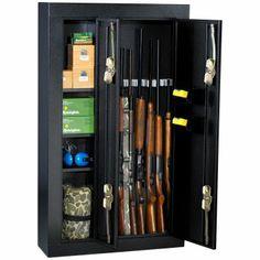 Homak 8-gun Double Door Steel Gun Cabinet