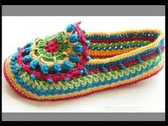 How To Crochet Simple Adult Slippers For Women Step by Step - YouTube
