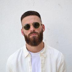 Beard Styles For Men, Hair And Beard Styles, Short Hair Styles, Men Sunglasses Fashion, Beard Haircut, Beard Game, Hair Icon, Sexy Beard, Beard Lover
