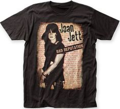 e2a535e8 This Joan Jett t-shirt spotlights both the album cover artwork from Joan's  solo debut
