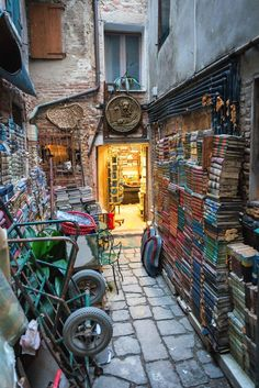 Where does one begin to start when discussing Italy. Well, if you intend to travel there, Rome and Venice are good places to start. Dream Library, Library Books, I Love Books, Books To Read, Room Deco, Small Space Interior Design, Book Cafe, Book Aesthetic, Book Memes