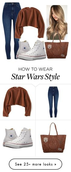 """""""rey"""" by justtsel on Polyvore featuring Uniqlo, Converse and Episode"""