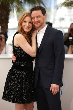 James McAvoy and Jessica Chastain at event of The Disappearance of Eleanor Rigby: Them (2014)