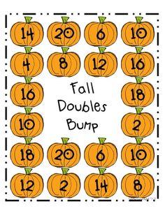 Fall Doubles Bump Math Game