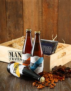 Gifts and Hampers - Man Crates: Brew Masters Man Crate!