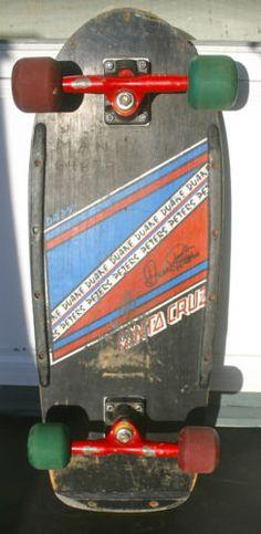 "VINTAGE DUANE PETERS 1983 29"" SANTA CRUZ SKATEBOARD GULLWING POWELL DOGTOWN ALVA"