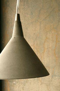"Concrete . ""Martini Pendant"" . Light $175"