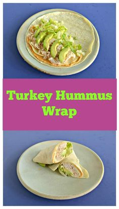 Hummus spread on a wrap topped with turkey, provolone cheese, lettuce, and avocado. #turkeyrecipes #wraps #lunchrecipes | Turkey Recipes | Wraps | Lunch Recipes | Hummus Recipes | Avocado Recipes | Easy Recipes | School Lunches Wrap Recipes, Lunch Recipes, Easy Recipes, Sandwich Recipes, Delicious Recipes, Turkey Lunch Meat, Vegetarian Wraps, Hummus Wrap, Lunch Wraps