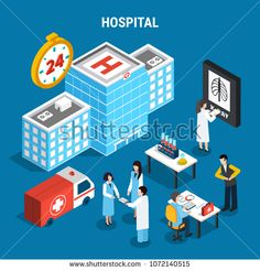 Stock Vector: Medical isometric set with hospital building ambulance car and doctors at work isolated on blue background vector illustration Android, Flat, Ambulance, Blue Backgrounds, Birds In Flight, Digital Marketing, Royalty Free Stock Photos, Medical, Doctors