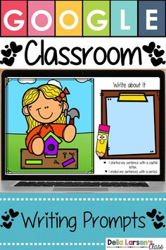 Perfect for your writing centers and your literacy centers. Kindergarten Writing Prompts, Kindergarten Readiness, Literacy Skills, Kindergarten Classroom, Writing Activities, Writing Centers, Literacy Centers, Classroom Ideas, Google Classroom