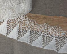 White linen edge trim lace crochet french by TextileSupplies