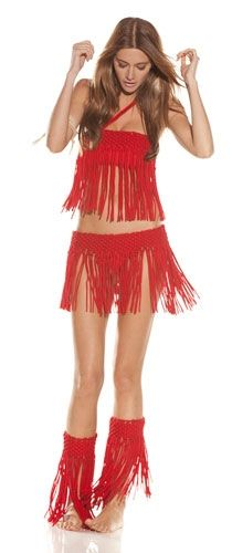 Alexis Roxana Two Piece Fringe Bikini in Red    This one piece bathing suit with Fringe  is oh so super sexy!!