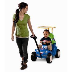 Ride Toys For Toddler Boys Girls Push Car Baby Stroller Wagon Walker Canopy Blue