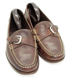 f04bb84867d Cole Haan mens Buckle Loafers Shoes 9 B Brown Leather Business Casual   ColeHaan  LoafersSlipOns