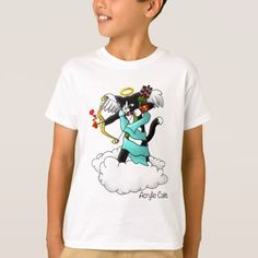 Valentine's Day Tuxedo Cupid Cat T-Shirt - valentines day gifts love couple diy personalize for her for him girlfriend boyfriend