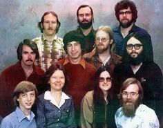 On December 7th, 1978 the staff of Microsoft pose together for a photo