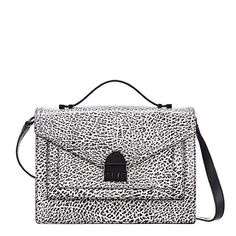 """Loeffler Randall Medium Rider Satchel Bag White and Black leather Loeffler Randall Medium Rider shoulder bag with black hardware, flat handle, adjustable flat shoulder strap, three interior compartments and S-lock closure at front. Measurements: Shoulder Strap Drop 22"""", Handle Drop 1"""", Height 6"""", Width 8"""", Depth 2.25"""". In good condition. Inside compartments show some signs of wear. Outside in excellent condition. Dust bag not included. No trades/PayPal. Loeffler Randall Bags"""