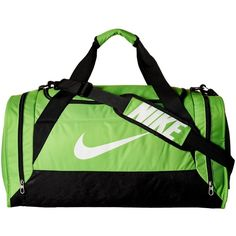 Nike Brasilia 6 Medium Duffel (Action Green Black White) Duffel Bags ( 1c3bfbe095665