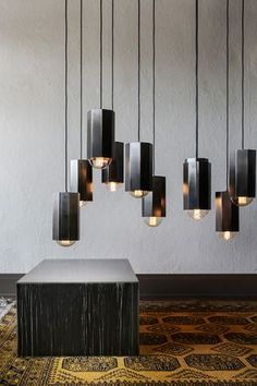 Hexes and Globes. The all new Hex Light One. Constructed of steel, then cleaned, stained and buffed by hand to create a truly unique one-off Ombre finish. The b