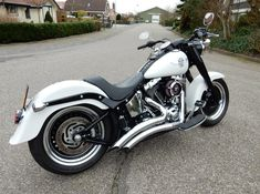 Harley davidson Fatboy special mate white