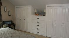 Take and old dresser and turn it into a built in.