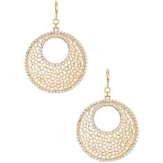 Kenneth Jay Lane Circle Filagree Earrings ($38) ❤ liked on Polyvore
