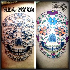 Day of the Dead Sugar Skull Tattoo By Enoki Soju by enokisoju.deviantart.com on @deviantART