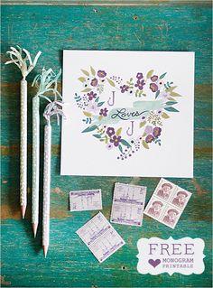 Free Customizable Wedding Monogram $0