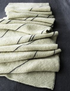 not only is this an elegant, simple scarf, but I love the idea that determines its pattern. . . .