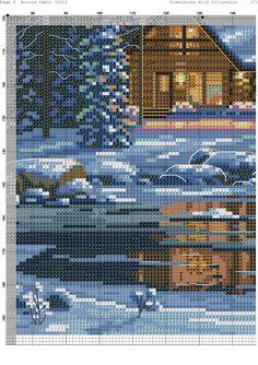 Cross Stitch Landscape, Christmas Cross, Pixel Art, Cross Stitch Patterns, City Photo, Scenery, Hobbies, Landscapes, Rose