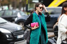 Paris Fashion Week - colored fur