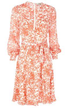 Beulah London blossom print  printed silk chiffon dress