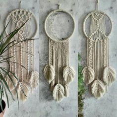 Crochet Wall Hangings, Large Dream Catcher, Large Macrame Wall Hanging, Wall Decor, Wall Art, Backdrops, Etsy, Feathers, Yarn Wall Hanging