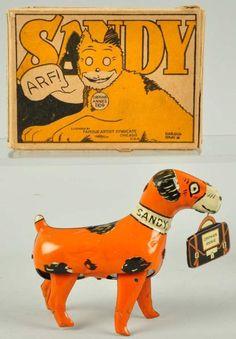 Tin Litho Marx Sandy Dog Wind-Up Toy
