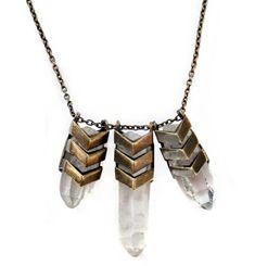 Chevron crystal necklace by Tom Tom jewelry