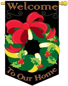 """Christmas Reef Flag Indoor/outdoor 28"""" X 44"""" by Two Group. $17.95. Pole hem and attachment tabs. Measures approximately Dimensions: 28"""" x 44"""". 100% polyester. Our vibrantly colored, high quality, appliqued and embroidered decorative flags are just the thing to decorate your home! We have a large selection of new decorative banner flags from beautiful flowers, to special occasion banners for your home, holidays and events.Our decorative banner flags are made of the finest polyes..."""