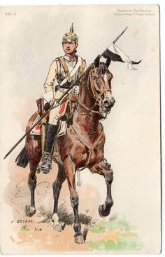 Early GERMAN LANCER C Becker Military Regiment Postcard in Collectables, Postcards, Military | eBay