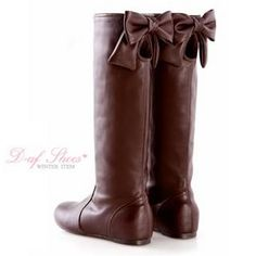 Bow-Accent Cutout Tall Boots need these for fall