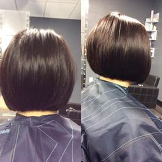 Seamless color and cut by Coz #bob #sharphaircut #fallhair #wellahair #wellalife #behindthechair #headbangerssalon