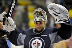 Ondrej Pavelec, Winnipeg Jets my gfs other bf Jets Hockey, Hockey Rules, Ice Hockey Teams, Hockey Goalie, Hockey Players, Nfl Fans, True North, Nhl, Colorado Avalanche