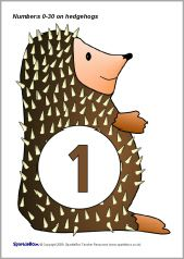 The numbers from 0 to 50 presented on a fun hedgehog character. Hedgehog Craft, Maths, Preschool, Teaching, Activities, Education, Fun, Crafts, Character