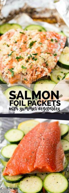 Salmon Foil Packets with Summer Vegetables Recipe!