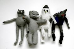 day 56 – four artist dolls by eyeball hurts and the medicine – circa 1997