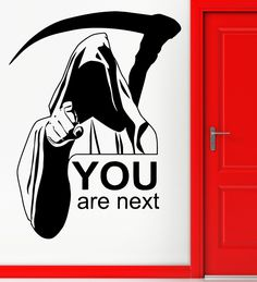Q016 2016 New Removable Wall Stickers Vinyl Decal Death Quote You Are Next Funny Scary Decals Free Shipping